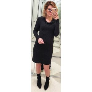 James Perse Charcoal Long Sleeve Dress